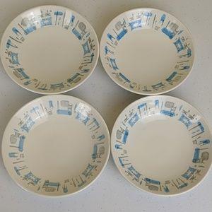 """VTG MCM Blue Heaven Royal China small bowls 5 1/2"""""""